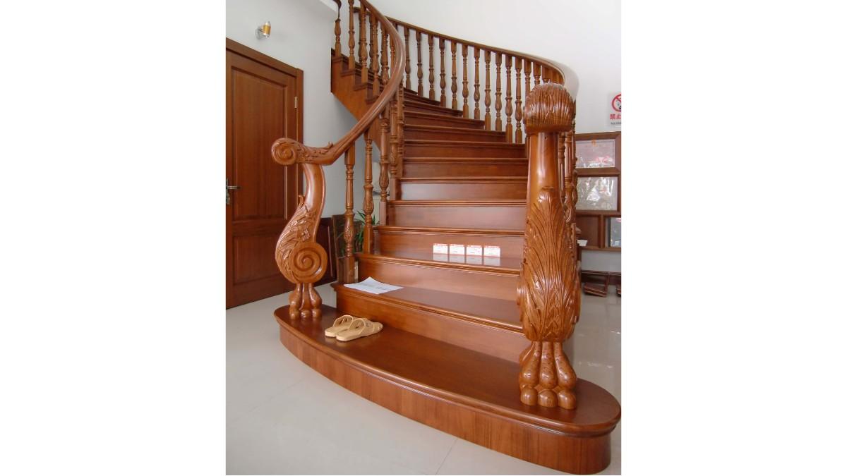柚木实木楼梯04