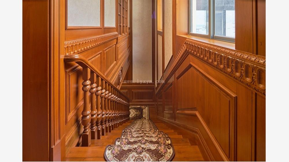 柚木实木楼梯07