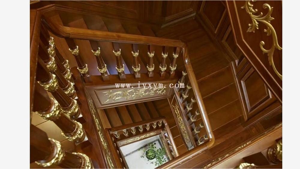柚木实木楼梯08