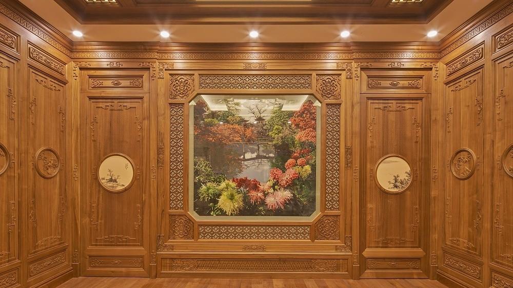 壹信柚木护墙板木饰面