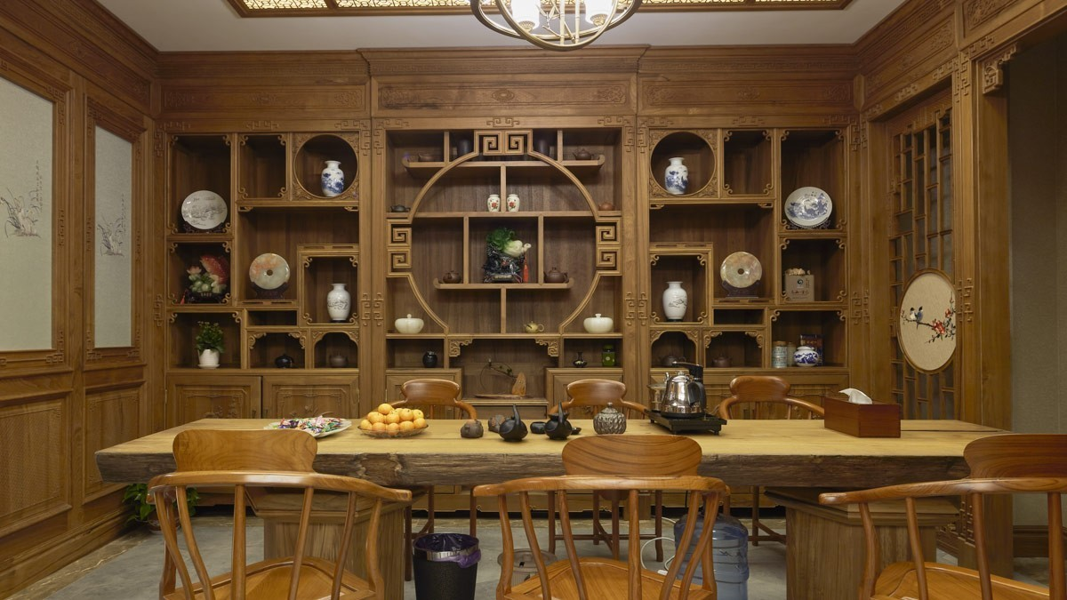 柚木茶室柜CSG01